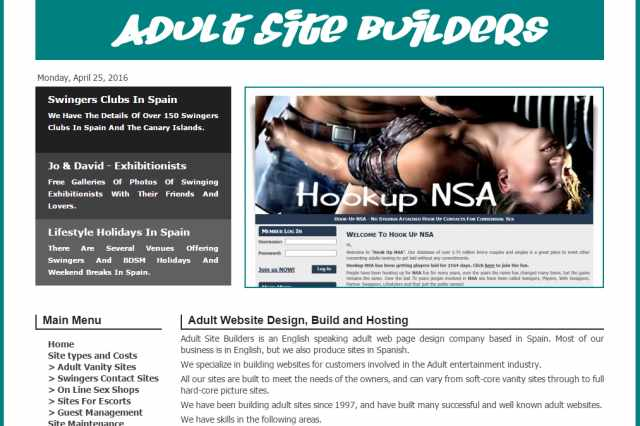 Adult home page swinger